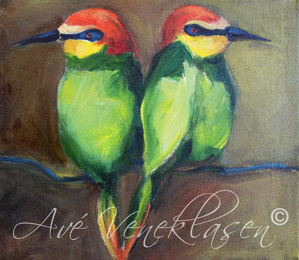 Ave_Veneklasen_Birds_Twins_OilPainting