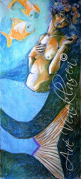 Ave_Veneklasen_Mermaids_FishStories_Pastel
