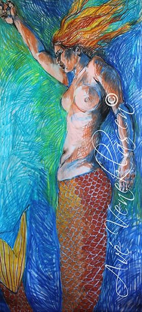 Ave_Veneklasen_Mermaids_Swimming_Pastel