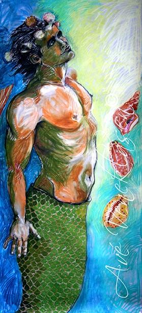 Ave_Veneklasen_Mermaids_TheShellPrince_Pastel