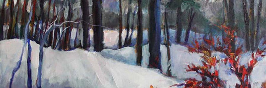 homepage Ave Madiol Veneklasen Landscapes Winter Landscape 20×16 Plein Air Acrylic